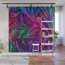 Folds of Luxurious Colors Abstract Design Wall Mural
