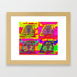 CRAZY NUT OLD CARS Framed Art Print