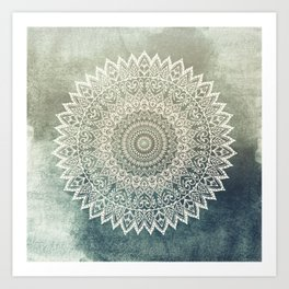 AUTUMN LEAVES MANDALA Art Print