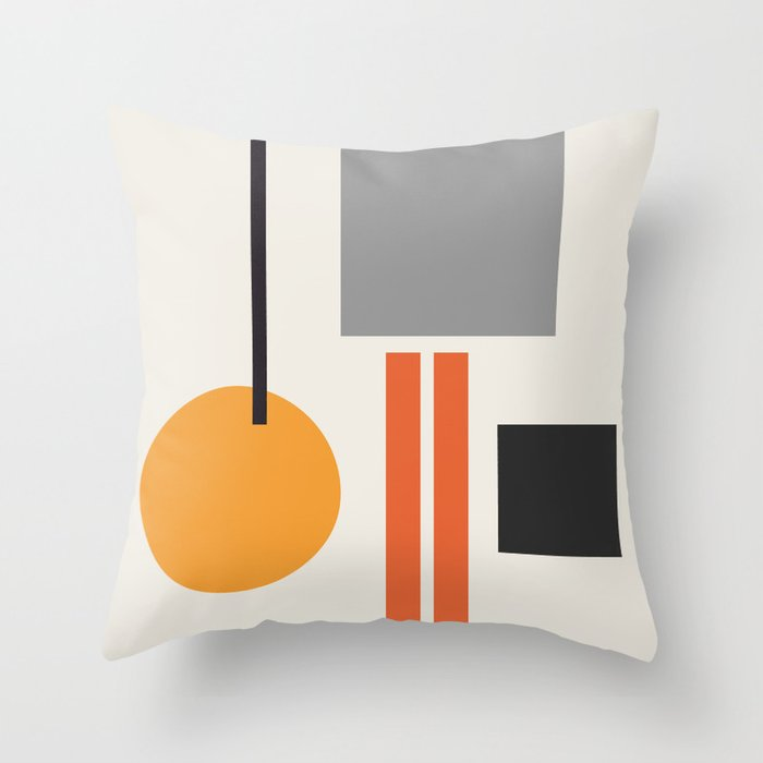 Mid Century 05 Throw Pillow