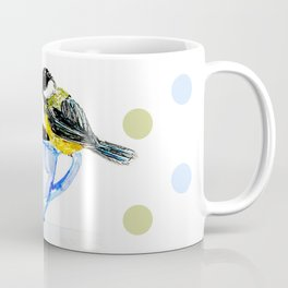 Morning coffee with a chickadee company Coffee Mug