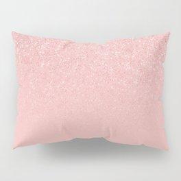 Rose Gold Glitter Cascade Pillow Sham