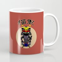 army Mugs featuring Cat Army by BATKEI