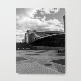Nascar Hall of Fame Charlotte Black and White Metal Print