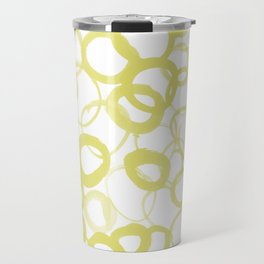 Watercolor Circle Ochre Travel Mug
