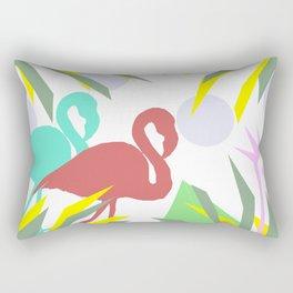 Flamingo jungle Rectangular Pillow