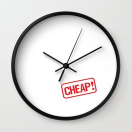 Husband for Rent Cheap Family Member Joke T-Shirt Wall Clock