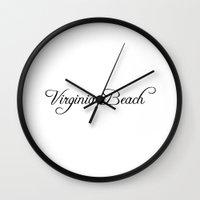 virginia Wall Clocks featuring Virginia Beach by Blocks & Boroughs