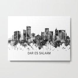Dar es Salaam Tanzania Skyline BW Metal Print