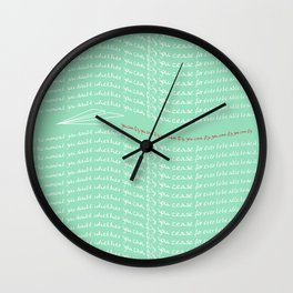 Paper Airplane - You Can Fly - Typography - Julep Wall Clock
