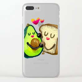 Avocado Toast Clear iPhone Case
