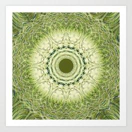 Green Sapphire Mandala Art Print
