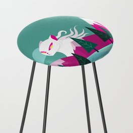 Monster Cat in the Mountains Counter Stool