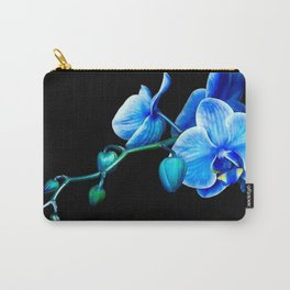 Blue Orchids Carry-All Pouch