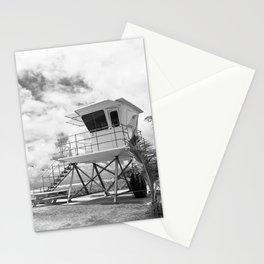 Lifeguard tower in Kauai, Hawaii Stationery Cards