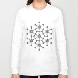 molecule. alien crop circle. flower of life and celtic patterns Long Sleeve T-shirt
