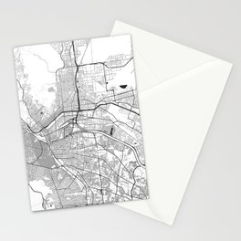 El Paso Map Gray Stationery Cards
