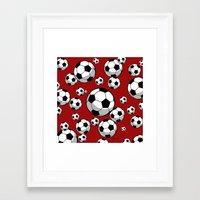 soccer Framed Art Prints featuring Soccer by joanfriends