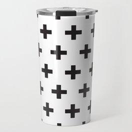 Swiss Cross x Black on White Travel Mug