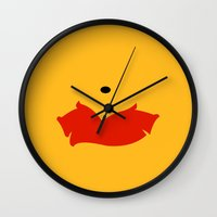 winnie the pooh Wall Clocks featuring Winnie the Pooh - Winnie by TracingHorses