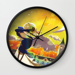 Violet Evergarden fanart Wall Clock