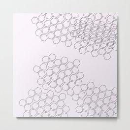 Geometric Pastel Metal Print