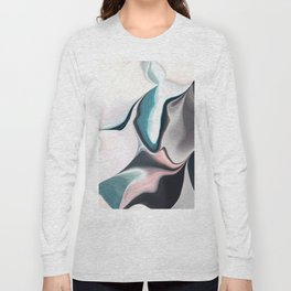 Abstract Subdued Pastel Color Flow Long Sleeve T-shirt