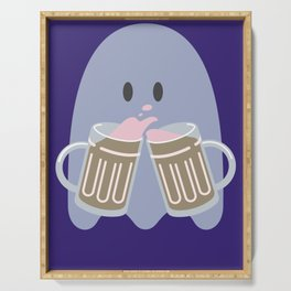 Introvert Party   Beer Ghost Ing   Haunting Beer Serving Tray