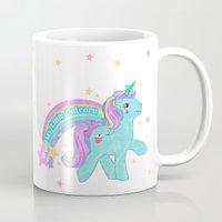 my little pony Mugs featuring My Little Pony Unicorn by lolia