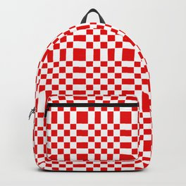 Square and tartan 1- red Backpack