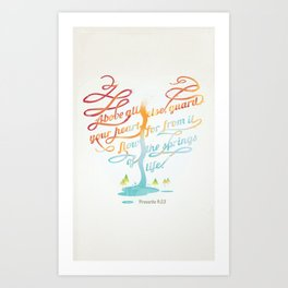 You heart Art Print
