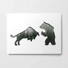 Bear vs Bull v8 Metal Print