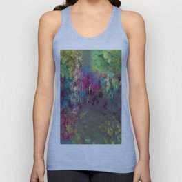 Corroded Purple Green and Blue Abstract Unisex Tank Top