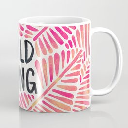 Wild Thing – Pink Ombré & Black Palette Coffee Mug