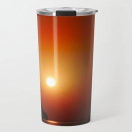 Sunset at the sea landscape Travel Mug
