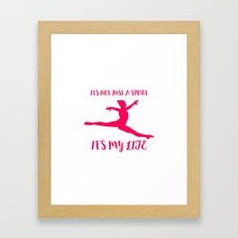 Gymnastics Quote Framed Art Print