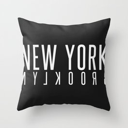 New York Brooklyn (white) Throw Pillow