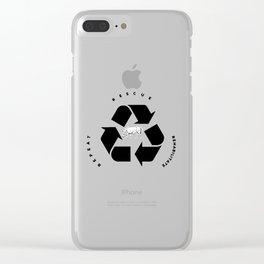 Rescue, Rehabilitate, Repeat Clear iPhone Case