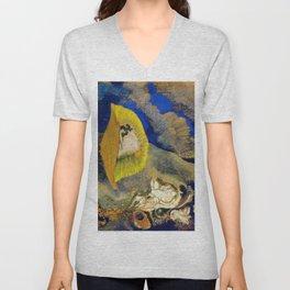 "Odilon Redon ""Vision sous-marine or Paysage sous-marin"" Unisex V-Neck"