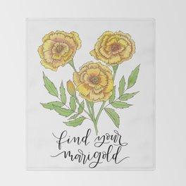 Find Your Marigold Throw Blanket