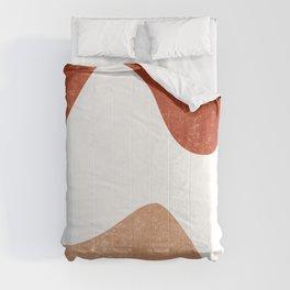 Terracotta Art Print 7 - Terracotta Abstract - Modern, Minimal, Contemporary Print - Burnt Orange Comforters