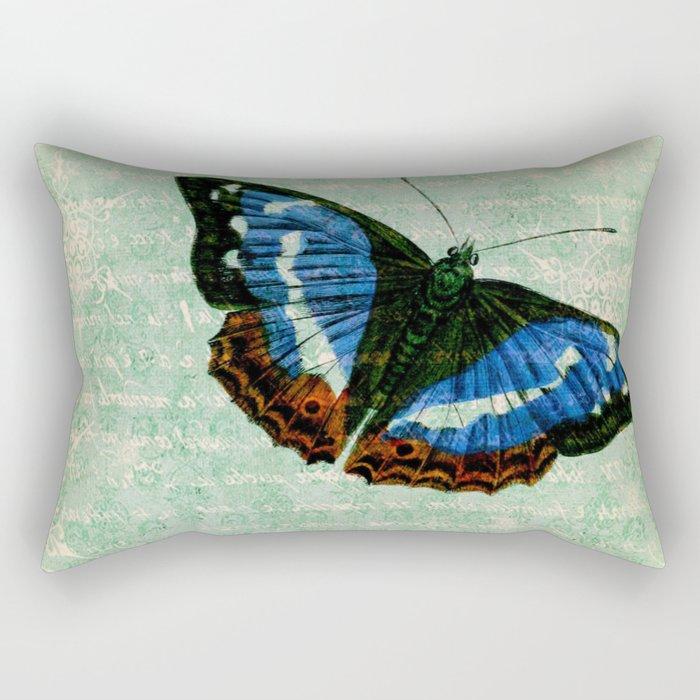 Vintage Butterflies 02 Rectangular Pillow