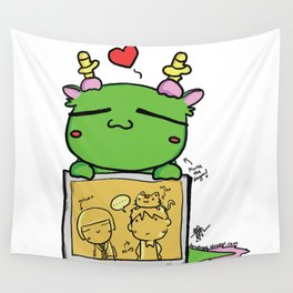 Kuma the dragon Wall Tapestry