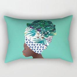 Tofo, Mozambique Capulana Lady Rectangular Pillow