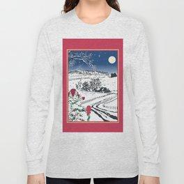 Silent Winter Night Silhouette Long Sleeve T-shirt