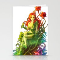poison ivy Stationery Cards featuring Poison Ivy by aken