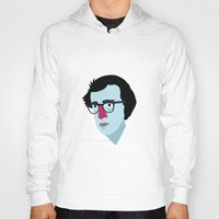 woody allen Hoodies featuring Woody Allen by Garuda and Hany