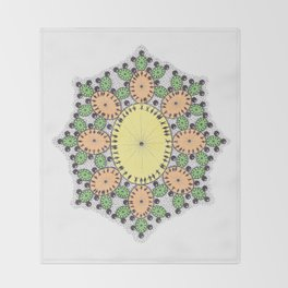 Spring Egg Mandala Throw Blanket