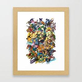 Super Smash Bros! Framed Art Print