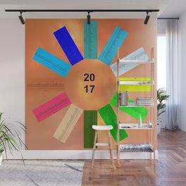 Calendar 2017 en easy star Wall Mural